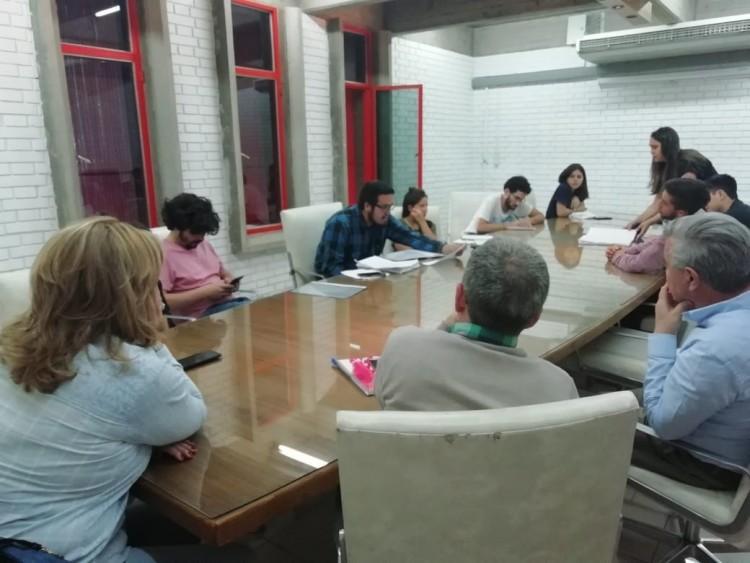 Reunión de los representantes estudiantiles y autoridades en FCPyS