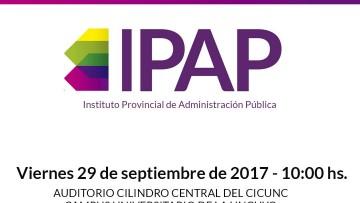 Presentarán el Instituto Provincial de Administración Pública