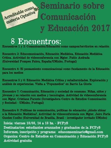 Comienza el Seminario de Educación y Comunicación en la FCPyS