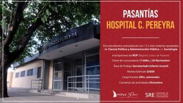 Pasantías destinadas a estudiantes de Ciencia Política y Sociología en el Hospital Carlos Pereyra