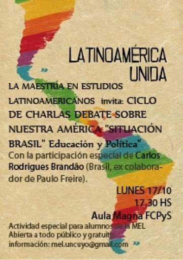 """Charla debate sobre Nuestra América """"Situación Brasil"""" Educación y Política"""