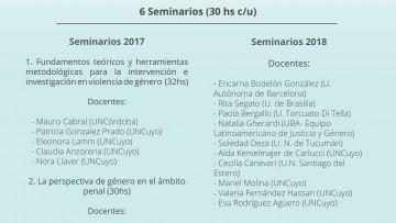 Diplomatura de Posgrado en Intervención y análisis de la violencia de género en el campo socio-jurídico en la FCPyS.