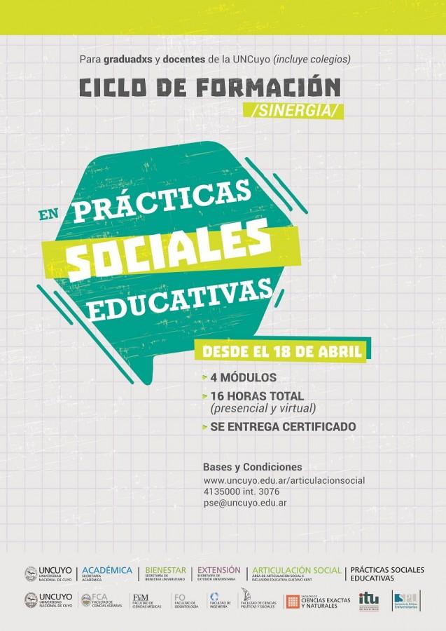 Ciclo de formación en prácticas sociales educativas