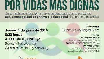 Dictarán taller sobre la desinstitucionalización de personas con discapacidad