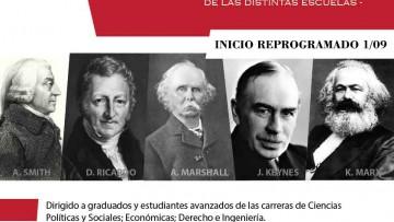 Curso de Posgrado Historia del Pensamiento Económico- Comienza el 1 de septiembre