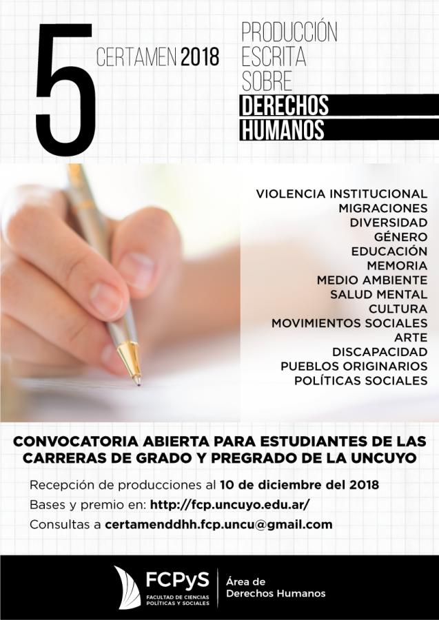 5to Certamen de Derechos Humanos