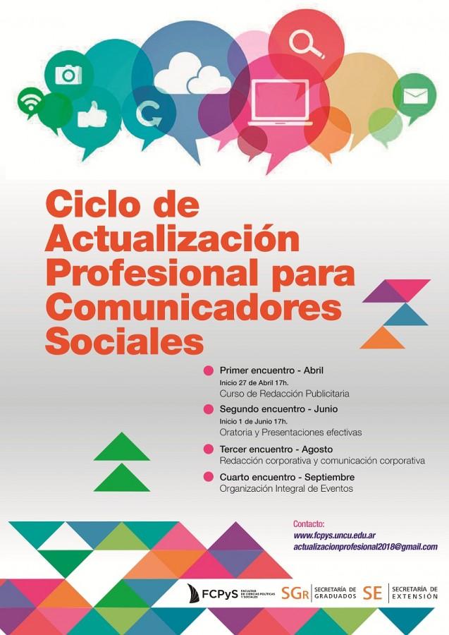 Ciclo de Actualización Profesional para comunicadores sociales