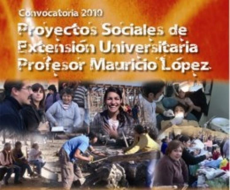 """Resultados de la Convocatoria 2010 de los Proyectos Sociales de Extensión """"Prof. Mauricio López"""""""