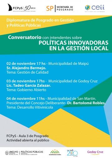 Conversatorio con Intendentes sobre Políticas Innovadoras en la Gestión Local