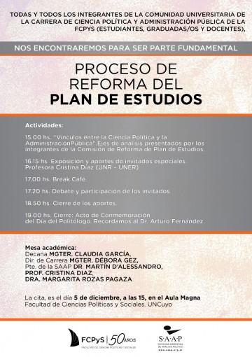 Proceso de reforma del Plan de Estudios de CPyAP