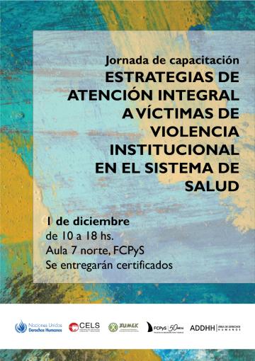 El CELS brindará un curso sobre Estrategias de atención integral a víctimas de violencia institucional en el sistema de salud\