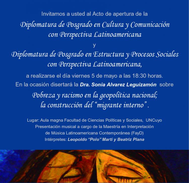 Nuevas cohortes de diplomados en  Cultura y Comunicación y Estructura Social en América Latina