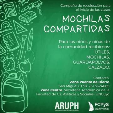 """Campaña """"Mochilas compartidas"""" en la FCPyS"""