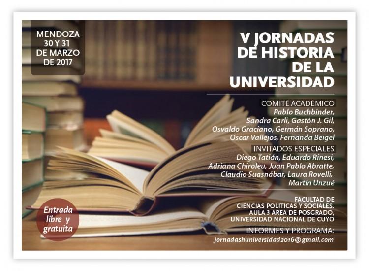 V Jornadas de Historia de la Universidad Argentina