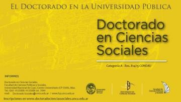 Doctorado en Ciencias Sociales- ADMISIONES 2017