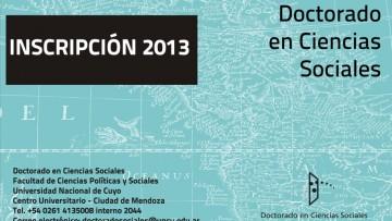 Doctorado en Ciencias Sociales Inscripciones 2013