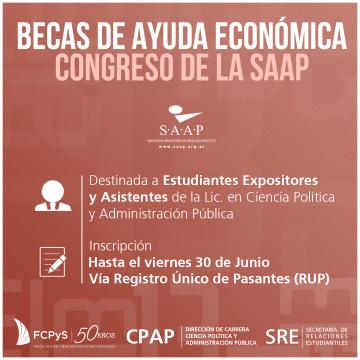 Becas para estudiantes que participen del Congreso de la SAAP