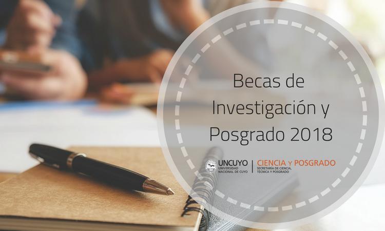 Se extiende la convocatoria de Becas SeCTyP 2018 para investigación y posgrado