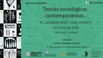 """Seminario optativo """"Teorías Sociológicas Contemporáneas"""""""