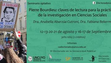 """Seminario optativo: """"Pierre Bourdieu: claves de lectura para la práctica en Ciencias Sociales"""""""