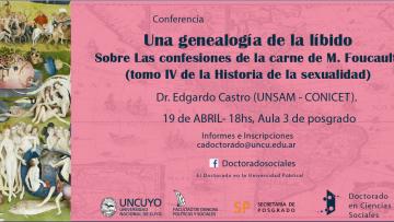 """Conferencia """"Una genealogía de la libido"""""""