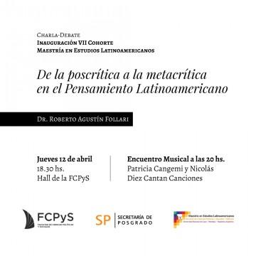 Charla-debate sobre el Pensamiento Latinoamericano