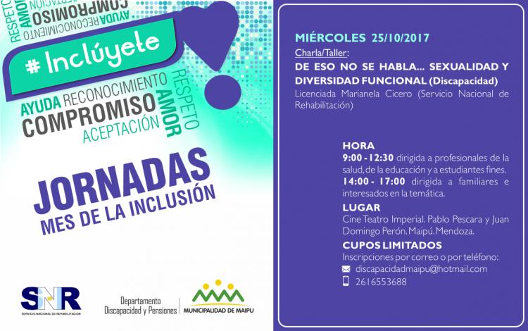 Charla - Jornada sobre Sexualidad y Discapacidad