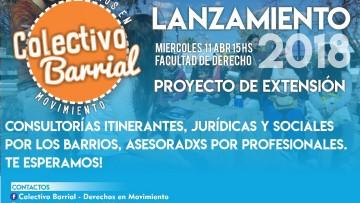 """Lanzamiento del proyecto """"Colectivo Barrial - Derechos en Movimiento"""""""