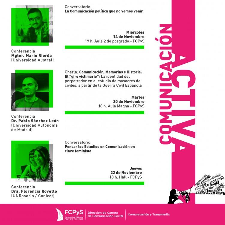 Mario Riorda participará en conversatorio gratuito en la FCPyS