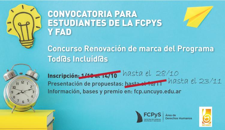 """Se extiende fecha de inscripción al Concurso de Renovación de Marca del programa """"Tod@s incluid@s"""""""