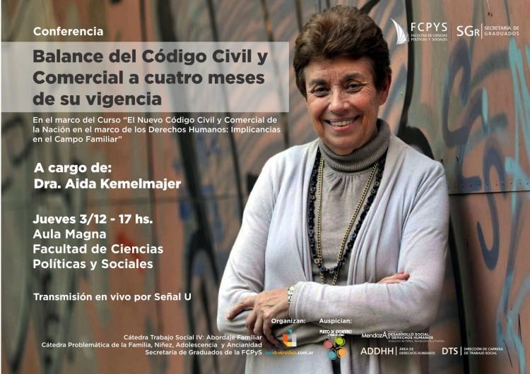 Aida Kemelmajer, coautora del Código Civil lo analiza a 4 meses de su vigencia