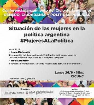 Ciclo de Seminarios: Género, Ciudadanía y Políticas Públicas