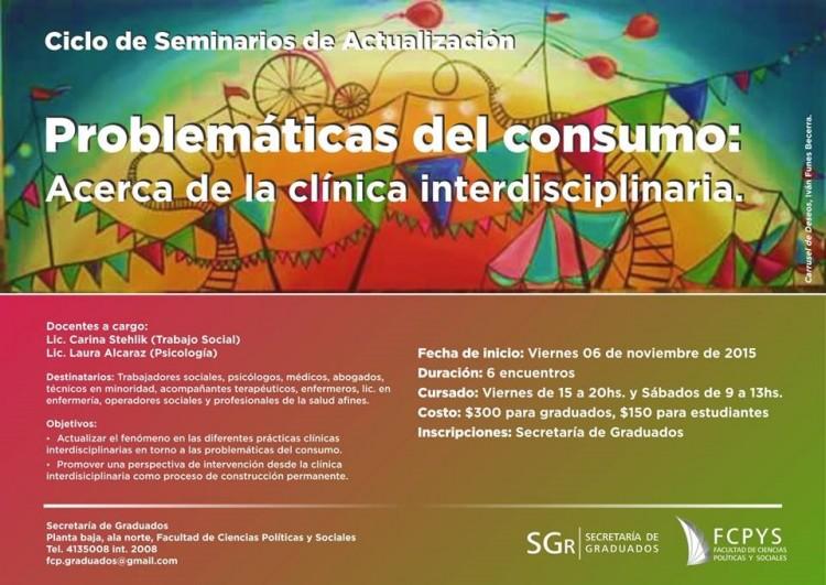 Problemáticas del Consumo: Acerca de la clínica interdisciplinaria