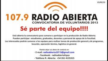 Convocatoria de Voluntarios 2013