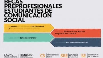 Becas Preprofesionales para Estudiantes de Comunicación Social