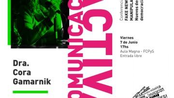 Cora Gamarnik vuelve a la FCPyS de la mano del ciclo Comunicación Activa