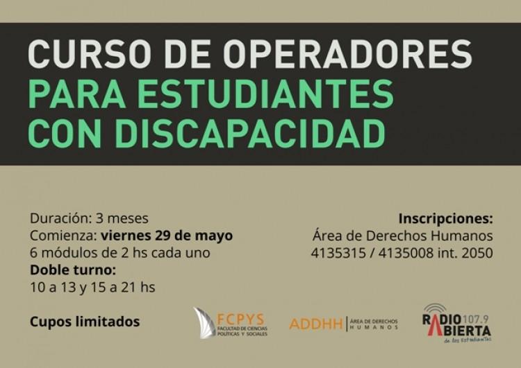 Curso de Operadores para estudiantes con discapacidad en Radio Abierta