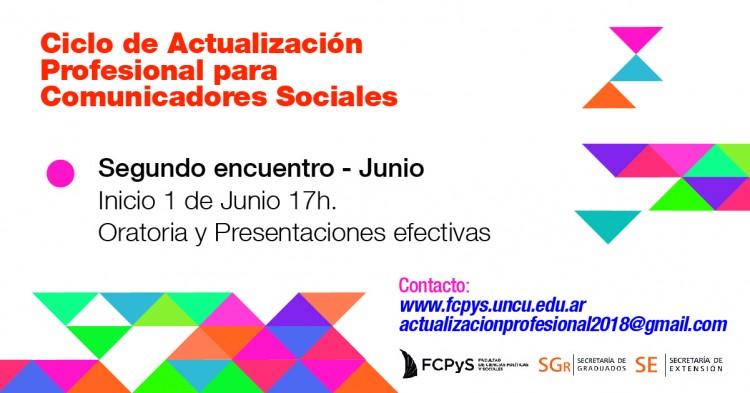 Segundo encuentro del Ciclo de actualización profesional para comunicadores sociales