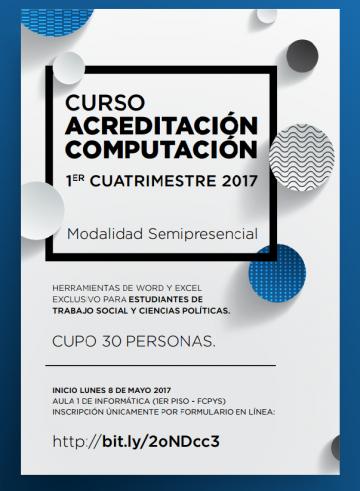 Comienza el Curso de acreditación en computación