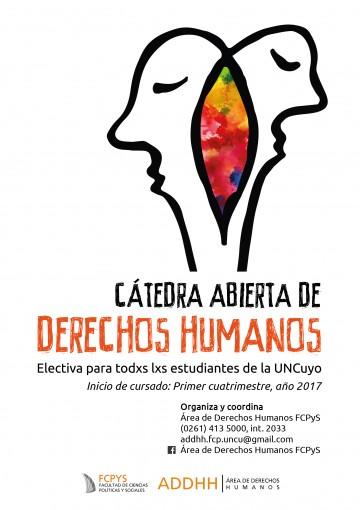 Vuelve la cátedra abierta de Derechos Humanos