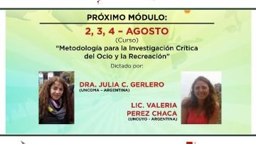 """Comienza el IV Módulo de la DipLOR """"Metodología para la investigación crítica del ocio y la recreación"""""""