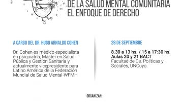 """Conferencia –Taller: """"Principios de la Salud Mental Comunitaria: el enfoque de derecho"""""""