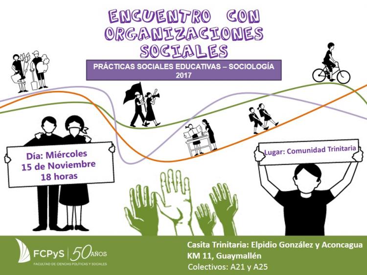 Encuentro con Organizaciones Sociales en la Cátedra de Prácticas Sociales Educativas
