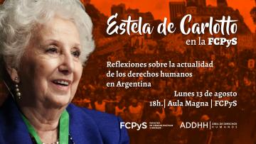 Estela de Carlotto visitará la FCPyS