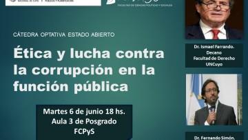 Charla debate sobre ética y lucha contra la corrupción en la FCPyS