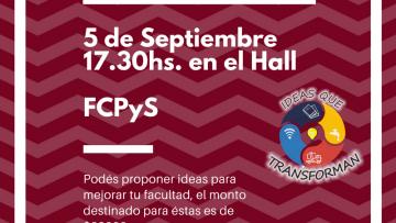 Hoy los estudiantes podrán decidir sobre presupuesto de la FCPYS