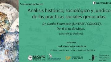 """Seminario optativo """"Análisis Histórico, sociológico y jurídico de las prácticas sociales genocidas"""""""