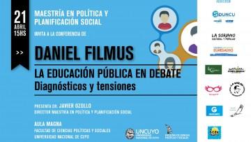 Conferencia de Daniel Filmus en la FCPyS