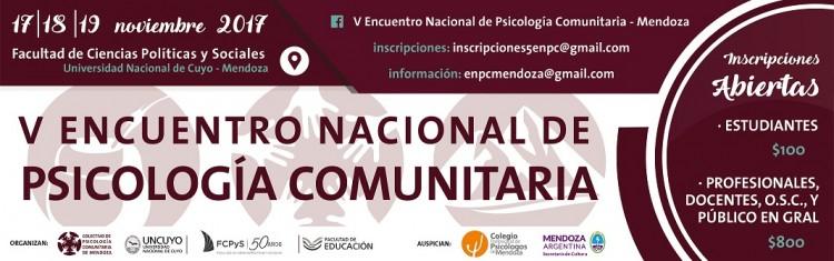 V Encuentro Nacional de Psicología Comunitaria en la FCPyS