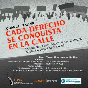 Charla-taller: La violencia institucional en Mendoza desde diversos abordajes